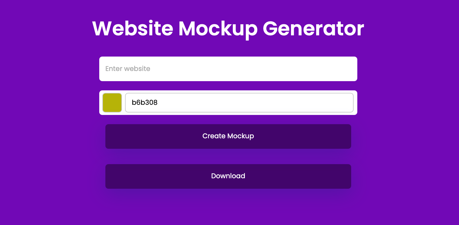 Website Mockup Generator demo